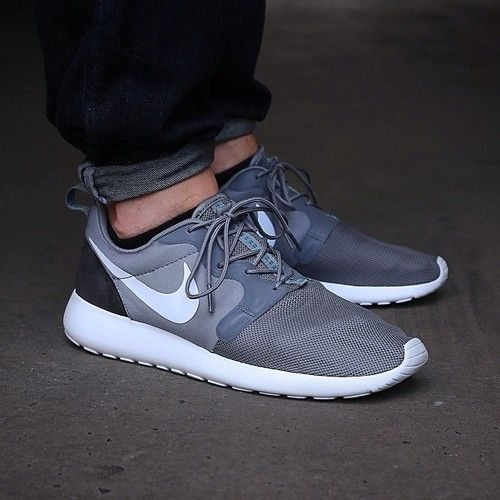 Nike Roshe Courir Hyperfuse Gris Clair