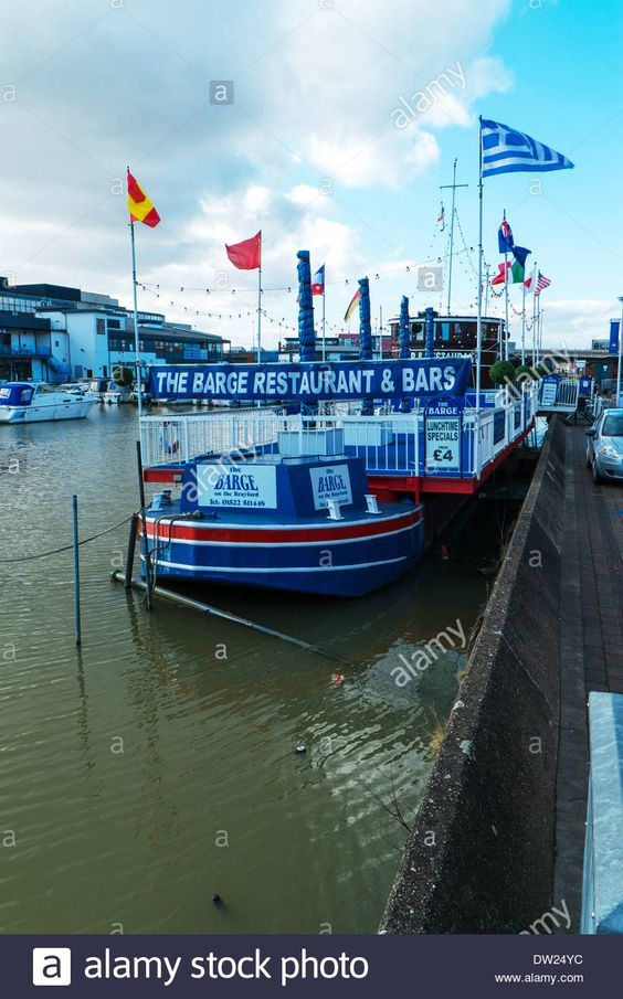 The barge restaurant & bar on the Brayford pool Lincoln City Lincolnshire…