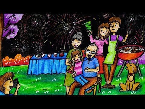 Cara Mewarnai Tema Gambar Malam Tahun Baru 2020 Bersama Keluarga