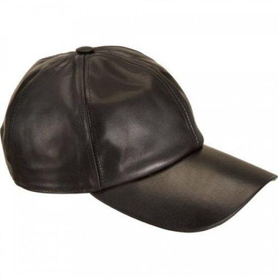 Rick Owens DRKSHDW Revolver Leather Hat - Black by Rick Owens Drkshdw