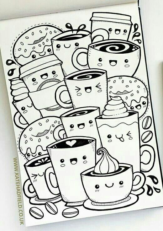 Lindo Dibujo Kawaii Dibujos Garabateados Dibujos Kawaii Y