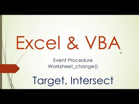 Worksheet Change Event Excel Vba Youtube In 2020 Excel Worksheets Event
