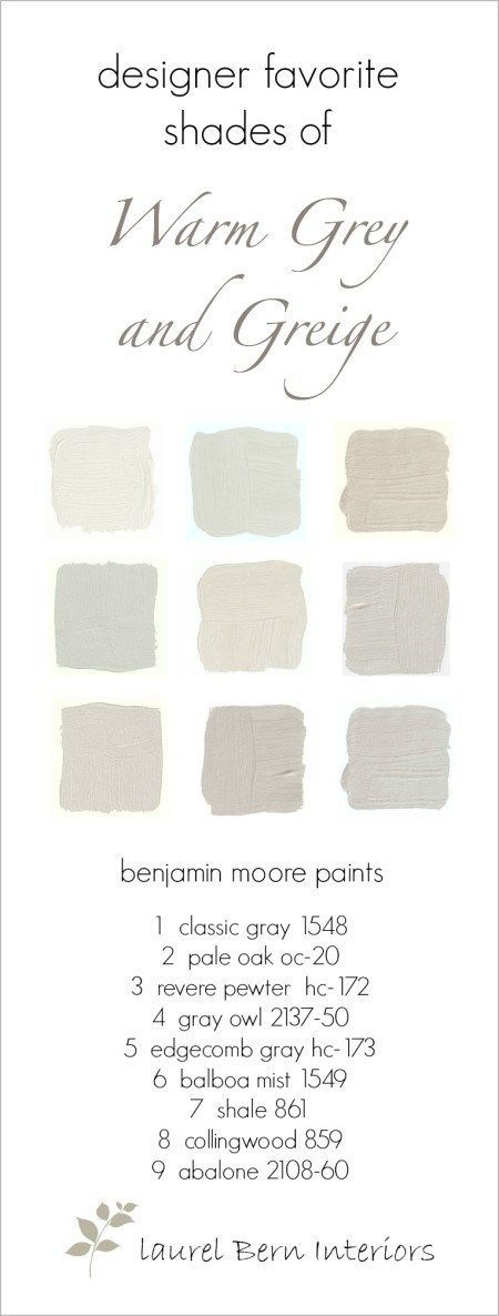 Nine fabulous benjamin moore warm gray paint colors for Warm neutral grey paint