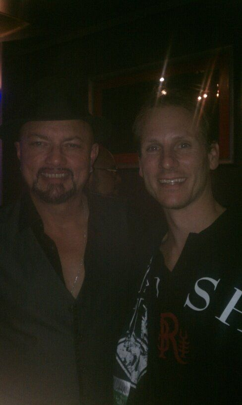 Geoff Tate with my friend Joshua Barnes at the Jacksonville M&G, 1/11/14.
