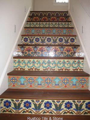Escaleras pintadas, escalera and escalones on pinterest