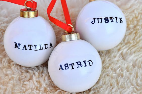 Stamped Christmas Ornaments
