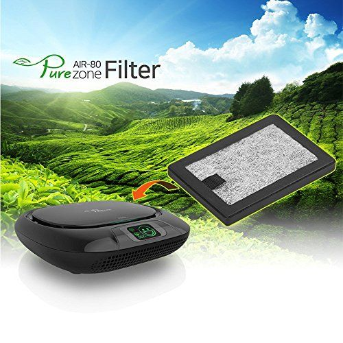 ABSL Portable Car Air Purifier Pure Zone Ionizer HEPA Filter