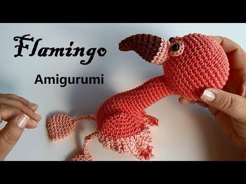 Flamingo häkeln Muster Amigurumi häkeln Tutorial Pdf-Datei im ... | 360x480