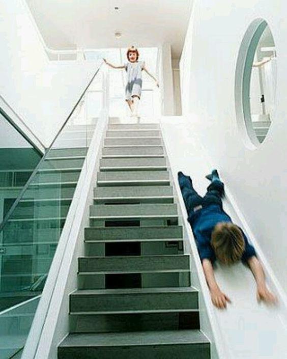 Una idea super para bajar las escaleras
