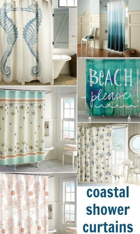 Beach Bathroom Shower Curtain Coastal Beach Shower Curtains To
