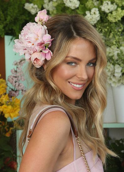 Jennifer Hawkins at 2012 Crown Oaks Day Pictures. So Pretty.