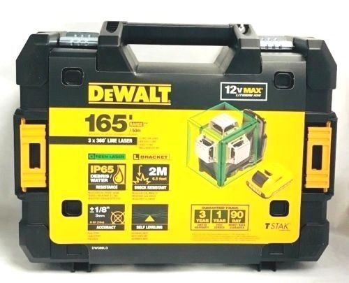 Laser Measuring Tools 126396 Dewalt Dw089lg 12 Volt 3 X 360 Degree Lit Ion Green Beam Line Laser New Buy It Now Only 4 Dewalt Green Laser Measuring Tools