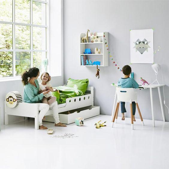 Flexa Kids Study Desk White - Yellow Legs
