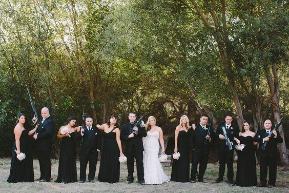 Another Epic Guns Flowers Wedding Party Pic Pilkington Danforth