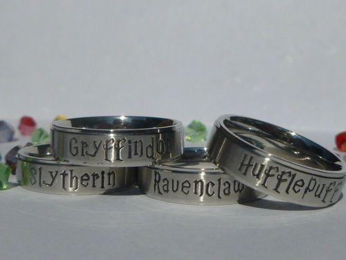 Harry Potter Inspired Hogwarts HOUSE RING / Class Ring |