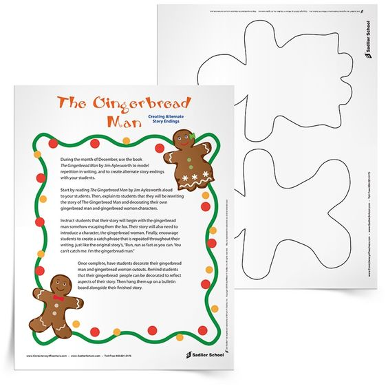 Math Worksheets gingerbread man math worksheets : The Gingerbread Man Creative Writing Activity. Use The Gingerbread ...
