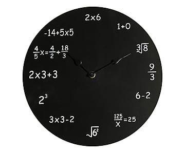 Orologio matematico da parete in mdf Maths - d 30 cm