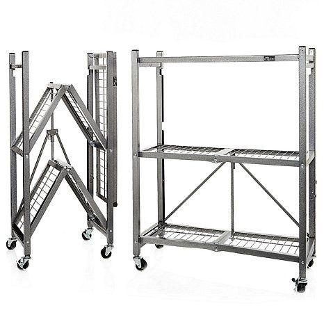 Origami 3-Tier Folding Storage Shelves - 2-pack