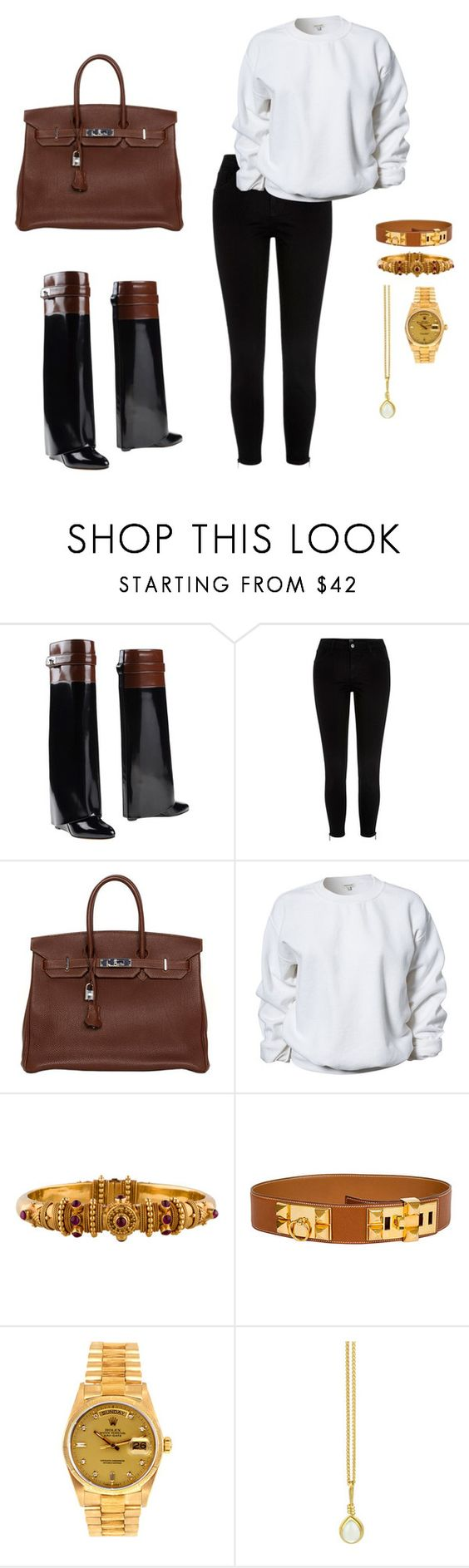 """""""Sin título #143"""" by cafria29 ❤ liked on Polyvore featuring Givenchy, River Island, Hermès, Rolex and Prism Design"""