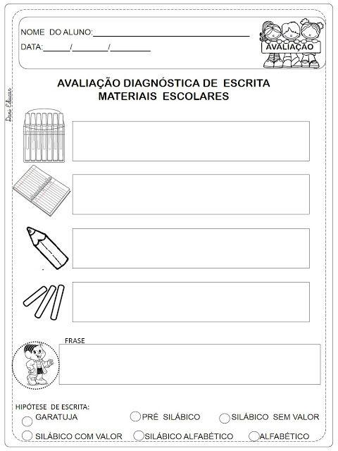 Avaliacao Diagnostica Sondagem Ilustrada Danieducar Com Imagens
