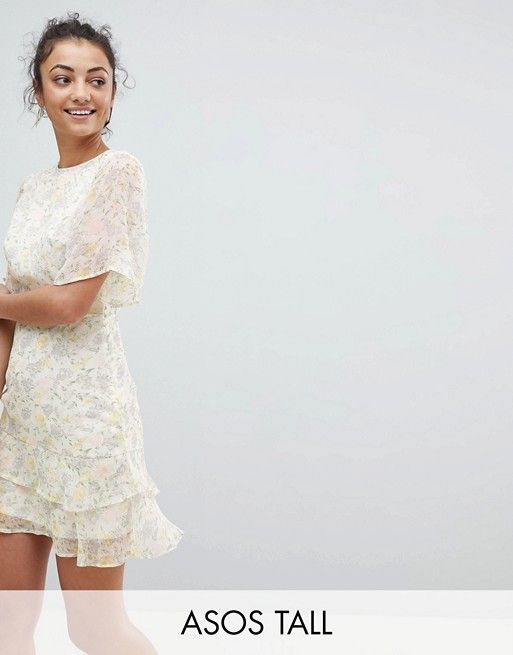 Fashion Union Tall | Fashion Union Tall Tea Dress In Pastel Floral