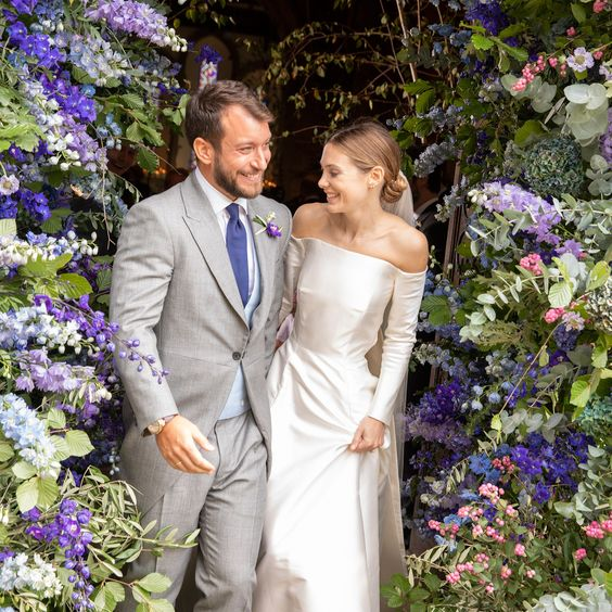 The Bride Wore Emilia Wickstead to Her English Wedding at an 18th-Century Estate