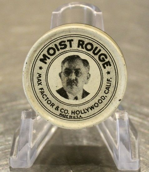 Vintage Moist Rouge Tin Pot by Max Factor & Co Hollywood Calif ...