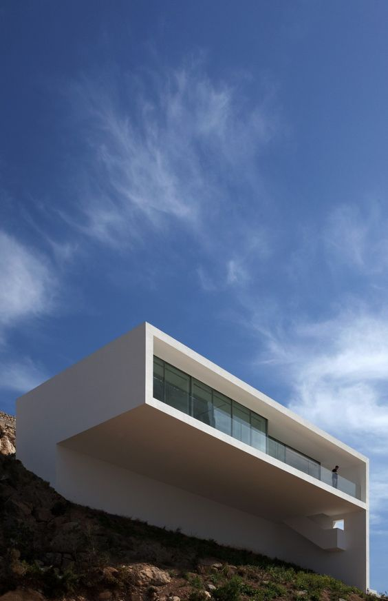 House on the Cliff in Calp, Spain by Fran Silvestre Architects