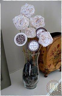 Crepe paper flower decor