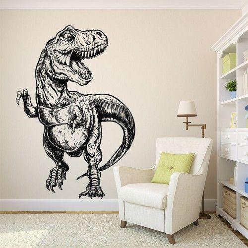 Jurassic World Dinosaur T Rex Wall Sticker Boys Nursery Decor Removable Decal