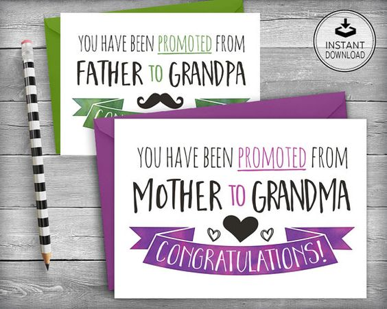 New Baby Announcement   Pregnancy Announcement   New Baby News   Printable Card   Instant Download   DIY Greeting Card