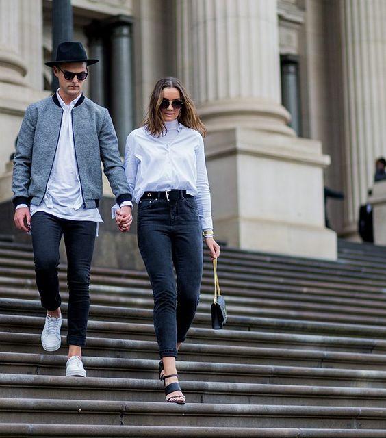 couple on steps; relationship goals
