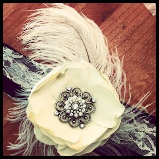 Roaring Twenties Party. Flower headband.