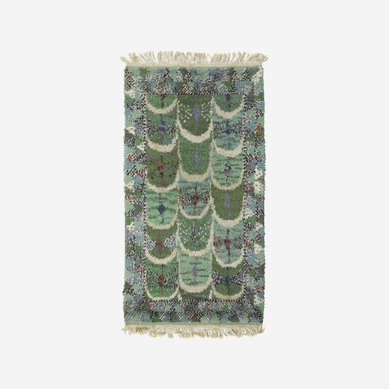 150: Marianne Richter / Fjädern pile carpet < Scandinavian Design, 20 November 2014 < Auctions | Wright