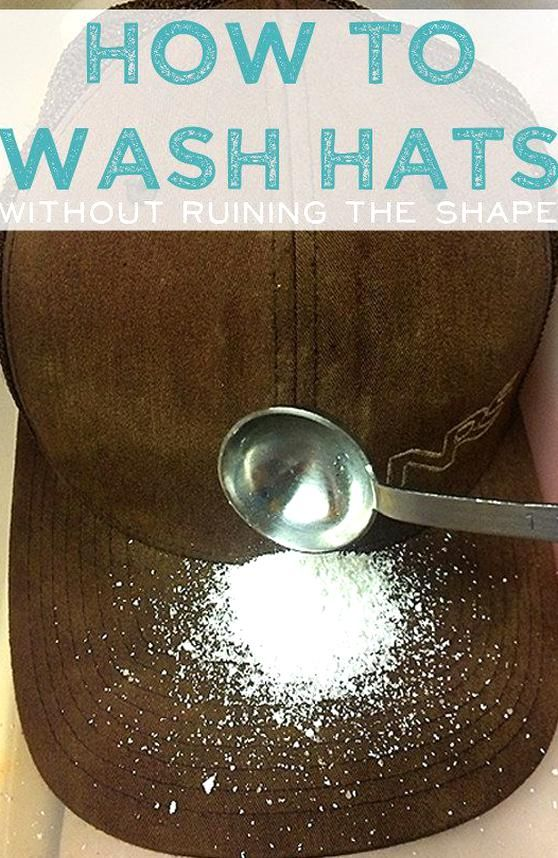Learn How To Wash Your Filthy Baseball Cap In 2020 How To Wash Hats Wash Shapes