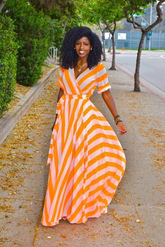"""I don't know if I can pull off """"neon orange"""" but I really like this dress. 