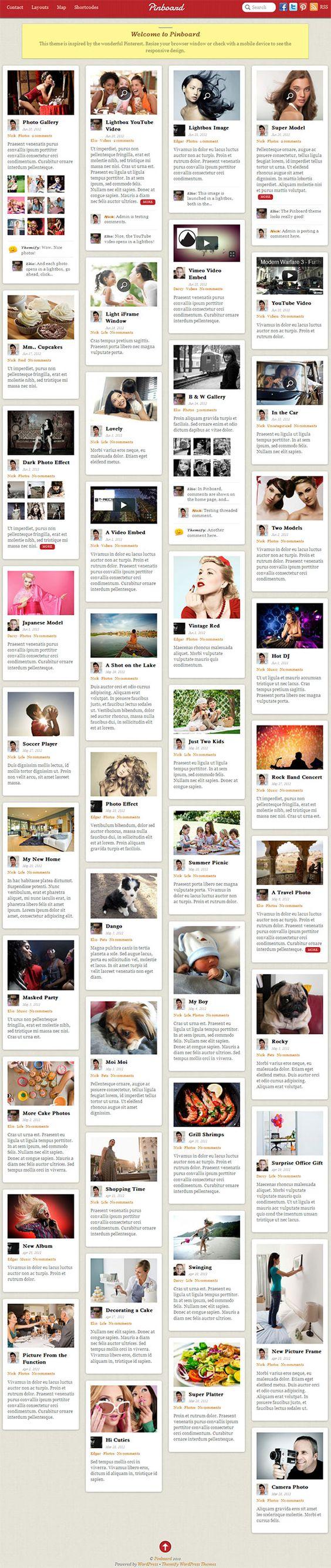 Stacking layout and responsive premium WordPress theme