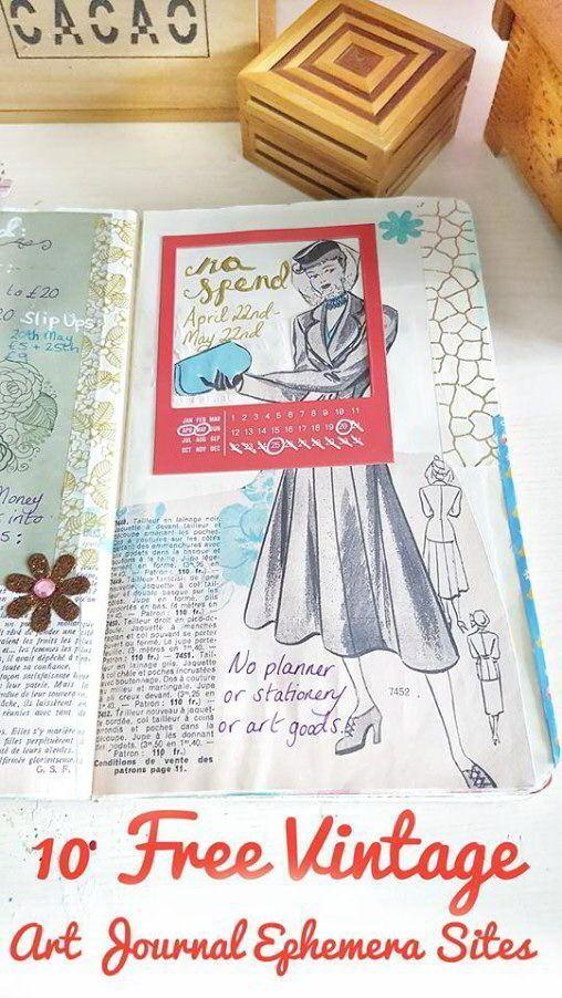 Vintage Ephemera Printables For Art Journaling And Planners 10 Free Digital Sites Art Journal Vintage Ephemera Ephemera