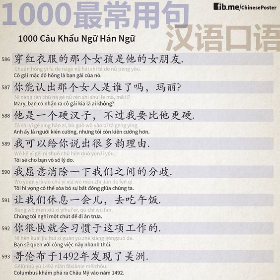 1000 Chinese Sentences In Daily Life Part 39