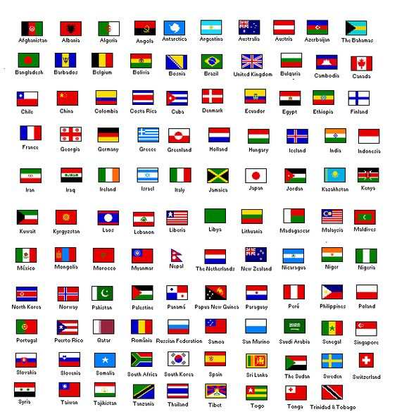flags and their country
