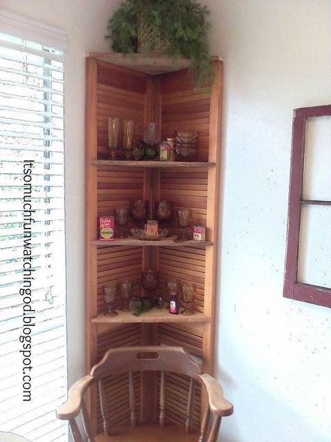 Bi Fold Doors Turned Corner Shelf Doors How To Organizing Repurposing Upcycling Shelving Ideas Woodworking P Door Diy Repurpose Doors Repurposed Diy Door