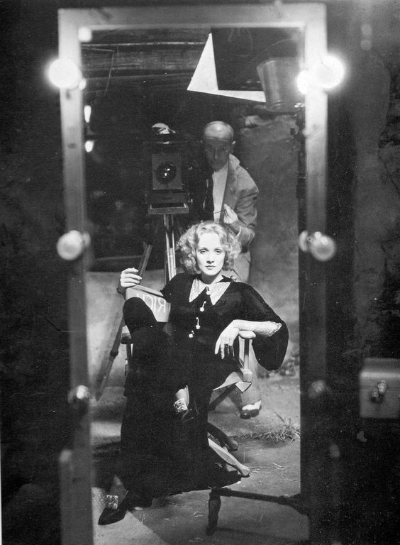 The mirror of Marlene Dietrich. She's not even trying