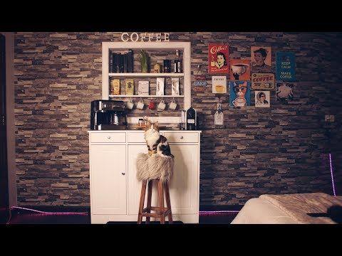 ركن القهوه الي بغرفتي وبعض افكاري للتصميم Coffee Corner Youtube Tea Bar Room Inspiration Photo Wall