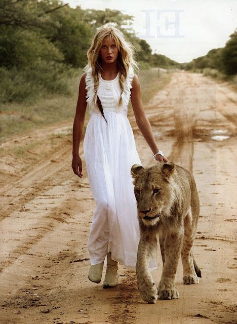 lovin the white dress and the lion