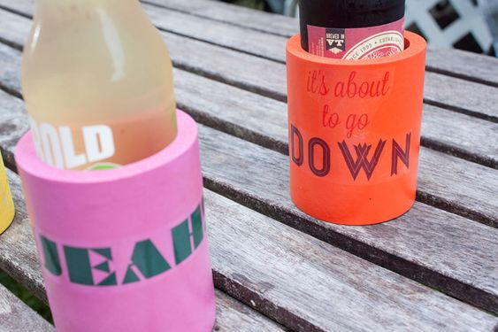 Make your own custom drink koozies!