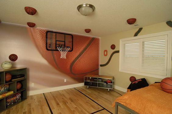 basketball theme wall murals inspirations basketball