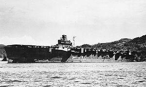 The IJN Carrier Jun'yo moored in Sasebo Harbor in Japan on September 26th 1945.