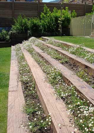Mm paisajismo durmientes pinterest for Jardines pequenos horizontales