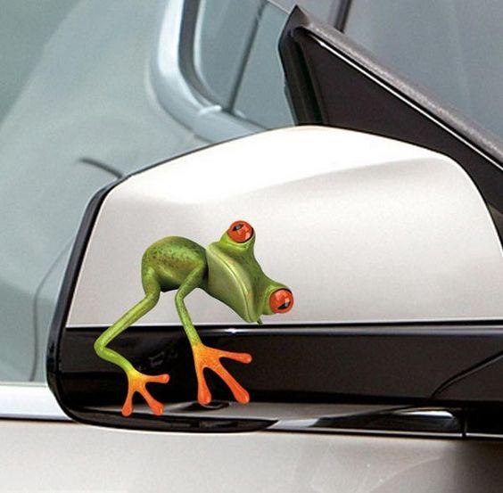 Pegatinas Auto Stick coche ventana etiqueta del vinilo 3d rana pegatina verde…
