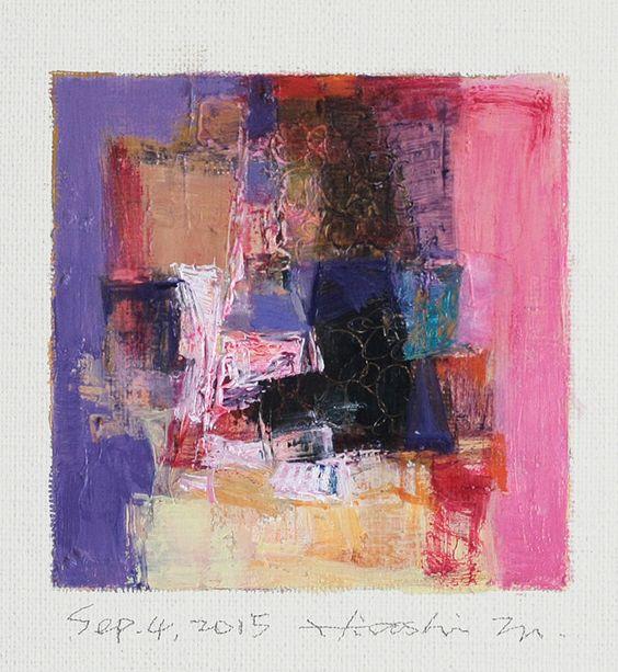 sep042015 | Oil on canvas  9 cm x 9 cm  © 2015 Hiroshi Matsumoto www.hiroshimatsumoto.com